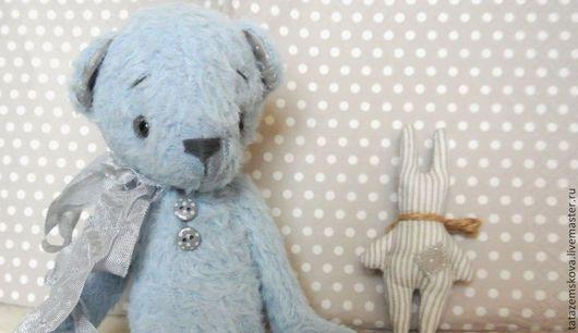 """Мишки Тедди ручной работы. Ярмарка Мастеров - ручная работа. Купить Мишка """"немного парижского дождя"""". Handmade. Голубой"""