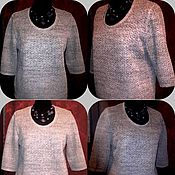 Одежда handmade. Livemaster - original item 100% linen Women`s jumper CLASSIC. Handmade.