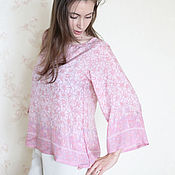 Одежда handmade. Livemaster - original item Pink blouse from natural silk. Handmade.