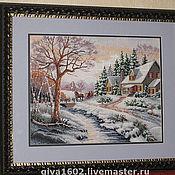 """Картины и панно ручной работы. Ярмарка Мастеров - ручная работа Картина """"Зима"""", ручная вышивка. Handmade."""