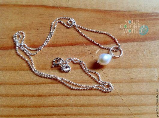 Кулоны, подвески ручной работы. Ярмарка Мастеров - ручная работа. Купить Жемчужинка // Pearls. Handmade. Белый, кулон и серьги