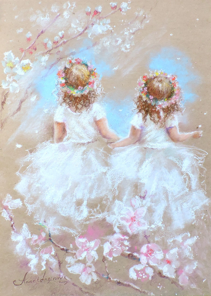 Two spring - painting with pastels, Pictures, Moscow,  Фото №1