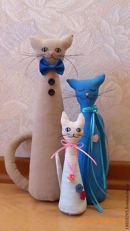 Игрушки животные, ручной работы. Ярмарка Мастеров - ручная работа. Купить Кошки. Мама, папа и ребёнок-котёнок.. Handmade. Кошка