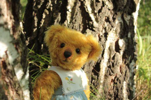 Мишки Тедди ручной работы. Ярмарка Мастеров - ручная работа. Купить Авторская мишка Веснушка (Летние каникулы). Handmade. Желтый