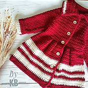 Одежда handmade. Livemaster - original item Knitted cardigan for girls.. Handmade.