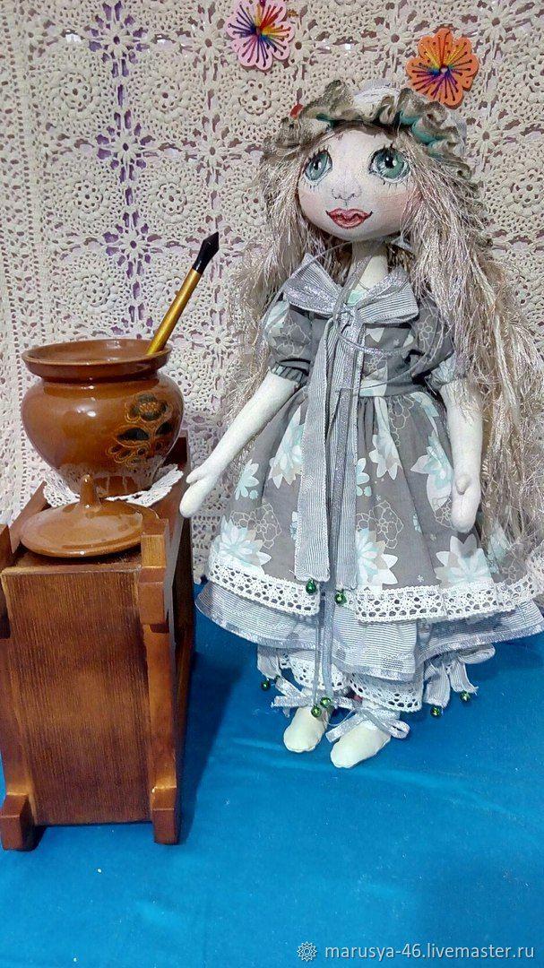 Коллекционные куклы ручной работы. Ярмарка Мастеров - ручная работа. Купить Элеонора. Интерьерная кукла. Handmade. Колокольчики, кружево, ситец