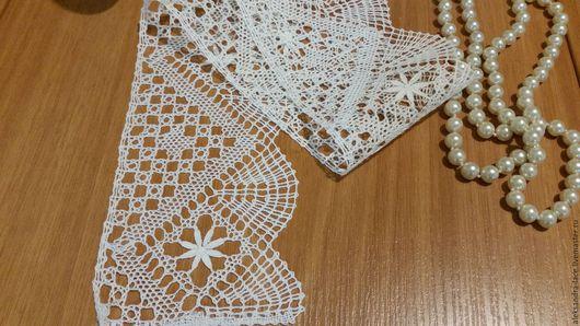 """Одежда ручной работы. Ярмарка Мастеров - ручная работа. Купить Кружево льняное """"Торшон"""" из отбеленного льна. Handmade. Белый"""