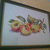 Картины и панно ручной работы. Ярмарка Мастеров - ручная работа Яблоки. Handmade.