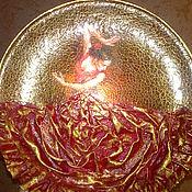 "Канцелярские товары ручной работы. Ярмарка Мастеров - ручная работа Тарелка ""Фламенко"". Handmade."