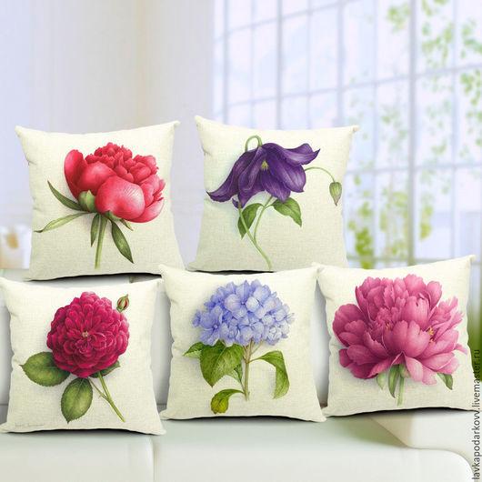 Подушки серии `цветы`