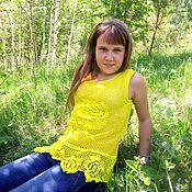 Одежда ручной работы. Ярмарка Мастеров - ручная работа Желтая роза. Handmade.
