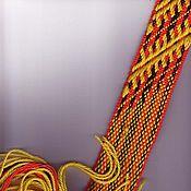 Русский стиль ручной работы. Ярмарка Мастеров - ручная работа Пояс тканый. Handmade.