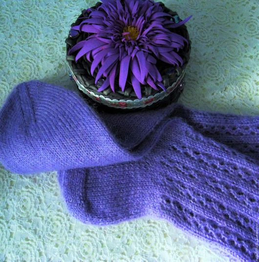 Носочки `Фиолетовое настроение`