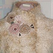 Одежда handmade. Livemaster - original item Vest wool Cream broadtail. Handmade.