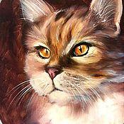 Картины и панно ручной работы. Ярмарка Мастеров - ручная работа Картина Кот . Его величество Кот. Handmade.