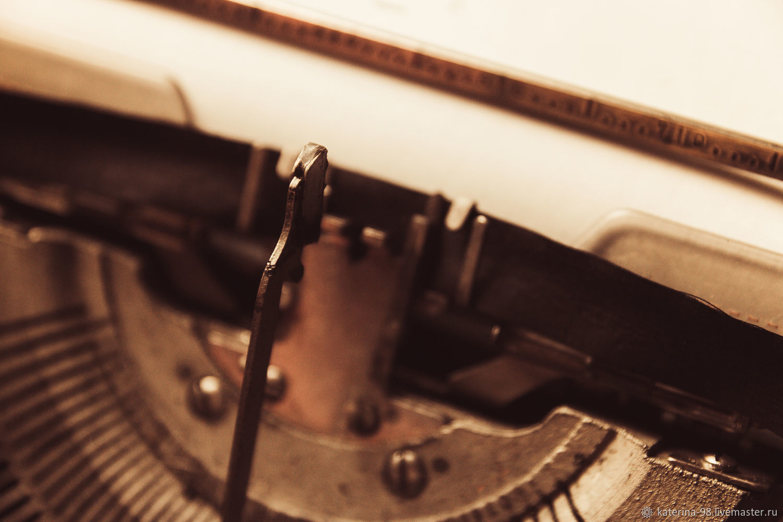 печатная машинка и создание истории, Фото, Москва,  Фото №1