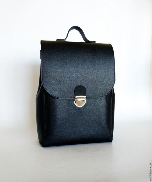 Рюкзаки ручной работы. Ярмарка Мастеров - ручная работа. Купить Черный рюкзак. Handmade. Рюкзак, рюкзак городской, рюкзачок женский
