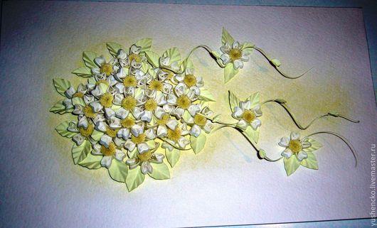 Картины цветов ручной работы. Ярмарка Мастеров - ручная работа. Купить Нежные цветы (квиллинг). Handmade. Квиллинг, букет