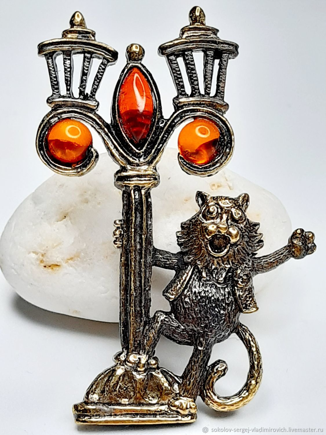 Brooch Cat Reveller, Brooches, Moscow,  Фото №1