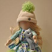 Куклы и пупсы ручной работы. Ярмарка Мастеров - ручная работа Интерьерная кукла с мишкой. Handmade.