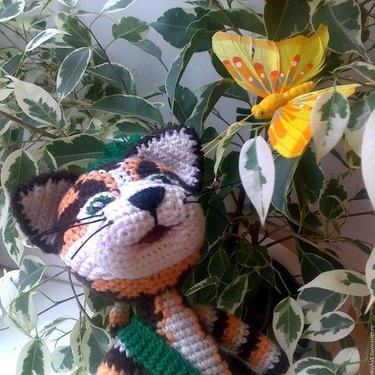 Игрушки животные, ручной работы. Ярмарка Мастеров - ручная работа. Купить Кот Финдус, герой книжки и мультяшки :). (рыжий, полосатый, зеленый). Handmade.
