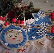 """Подарки к праздникам ручной работы. Ярмарка Мастеров - ручная работа Новогодняя гирлянда""""Сказочная ночь"""". Handmade."""