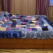 Для дома и интерьера ручной работы. Ярмарка Мастеров - ручная работа покрывало голубой Пэчворк. Handmade.