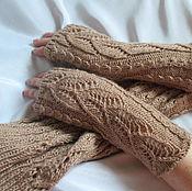 Аксессуары handmade. Livemaster - original item Sleeve mitts color Cappuccino. Sleeves to fur vest. Handmade.