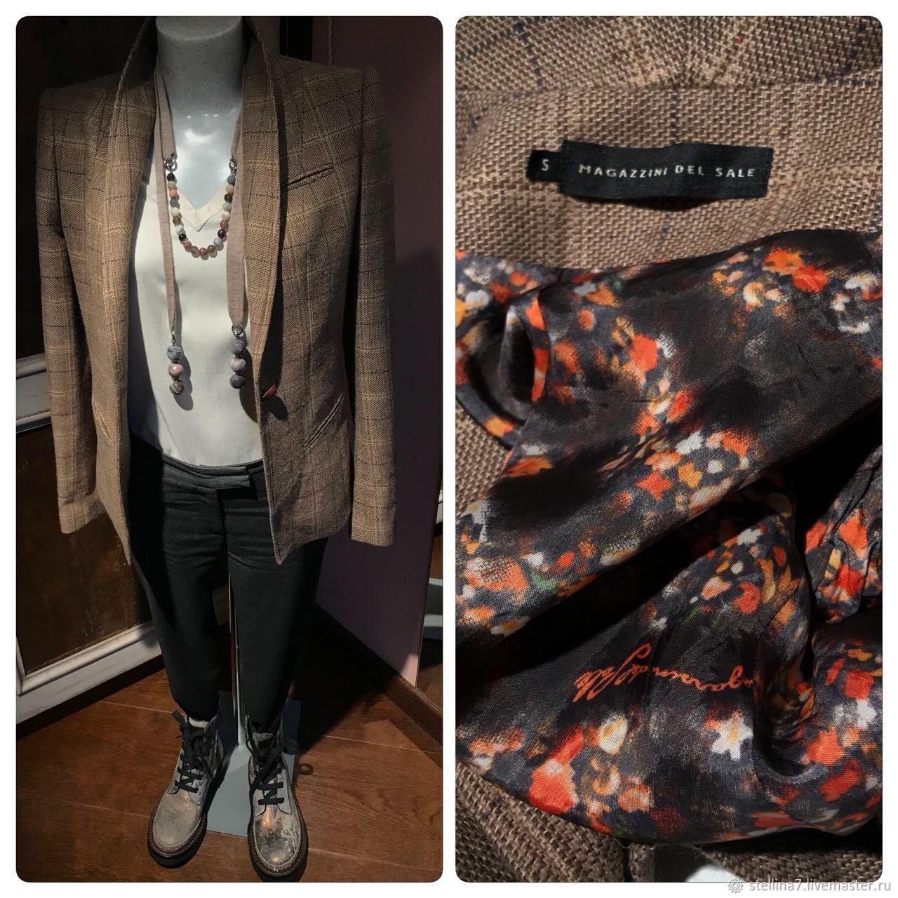 2775001456cf Одежда. Ярмарка Мастеров - ручная работа. Купить Винтаж  Шерстяной женский  пиджак коричневого цвета ...