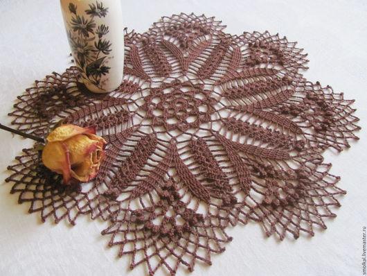 Текстиль, ковры ручной работы. Ярмарка Мастеров - ручная работа. Купить Салфетка 11. Handmade. Коричневый, для дома