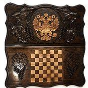 Сувениры и подарки handmade. Livemaster - original item Backgammon carved handmade