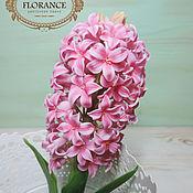 Цветы и флористика ручной работы. Ярмарка Мастеров - ручная работа Розовый гиацинт. Handmade.