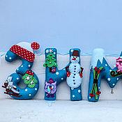 Для дома и интерьера ручной работы. Ярмарка Мастеров - ручная работа Интерьерная гирлянда Зима. Handmade.