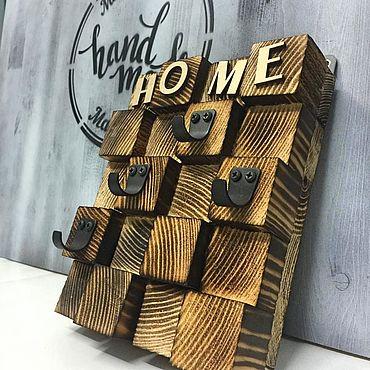 For home and interior handmade. Livemaster - original item Key holder wooden wall. Handmade.