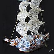Цветы и флористика ручной работы. Ярмарка Мастеров - ручная работа Конфетный корабль. Handmade.