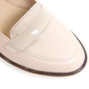 Обувь ручной работы. Ярмарка Мастеров - ручная работа Туфли-лоферы Beige. Handmade.