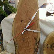 Для дома и интерьера ручной работы. Ярмарка Мастеров - ручная работа Часы из спила можжевельника. Handmade.