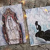 Открытки ручной работы. Ярмарка Мастеров - ручная работа Зимние открытки по иллюстрациям от художника. Handmade.