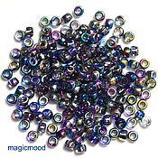 Материалы для творчества handmade. Livemaster - original item 10gr Matubo 7/0 3,5 mm 95100CR blue pink Czech beads. Handmade.