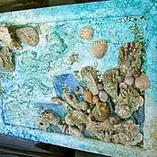 """Картины и панно ручной работы. Ярмарка Мастеров - ручная работа Панно """"В морской глубине"""". Handmade."""