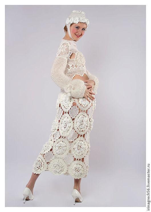 """Костюмы ручной работы. Ярмарка Мастеров - ручная работа. Купить костюм из коллекции """"Белое танго"""". Handmade. Белый, дизайнерская одежда"""