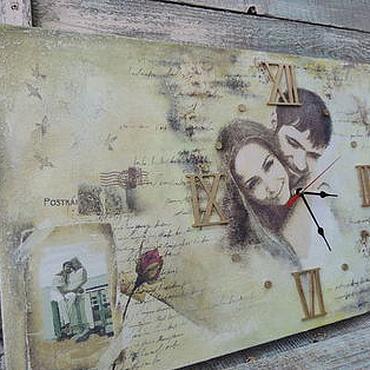 Для дома и интерьера ручной работы. Ярмарка Мастеров - ручная работа Часы фреска Старые письма о любви. Handmade.