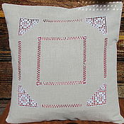 Pillow handmade. Livemaster - original item Pillow case linen Ivanovo 42/42 line No. №1 decorative. Handmade.