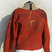 """Одежда ручной работы. Ярмарка Мастеров - ручная работа Джемпер валяный  """"На рыжей волне"""". Handmade."""