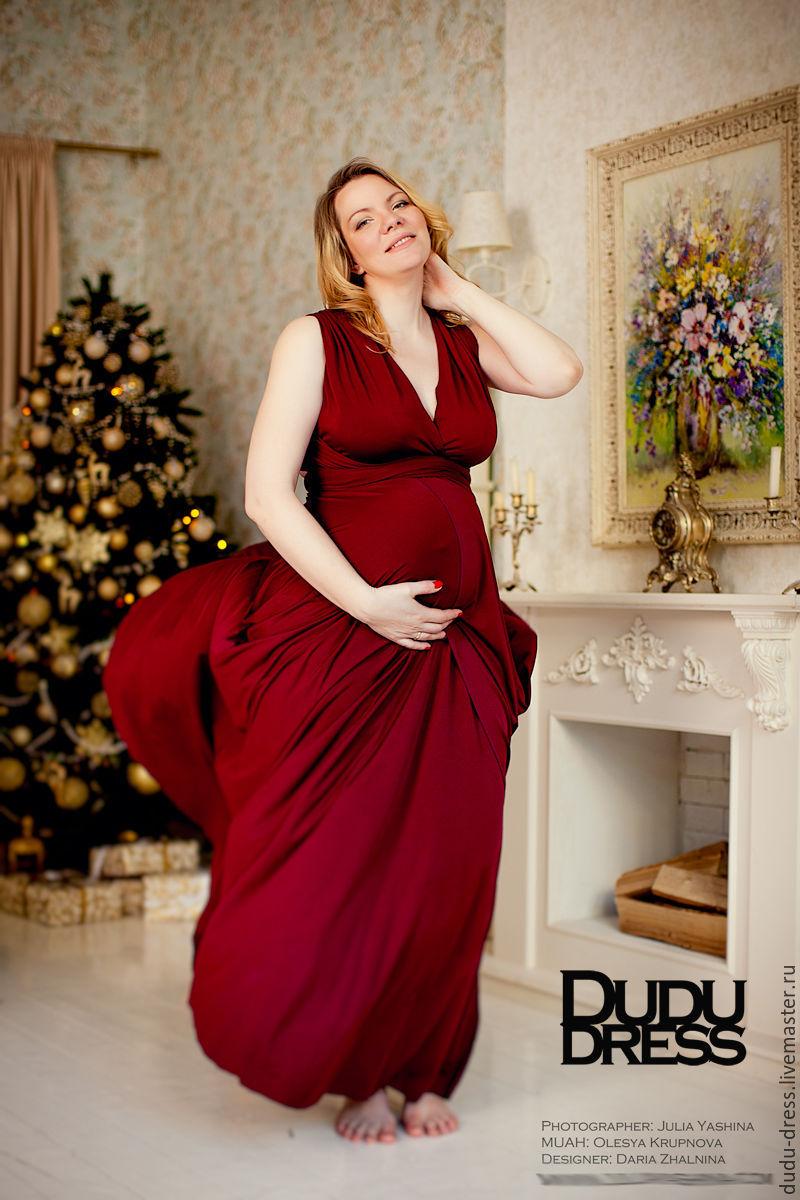 143b1cb60ee4 Купить Платье Для будущих и молодых мам ручной работы. Платье-трансформер  для беременных бордо марсала.
