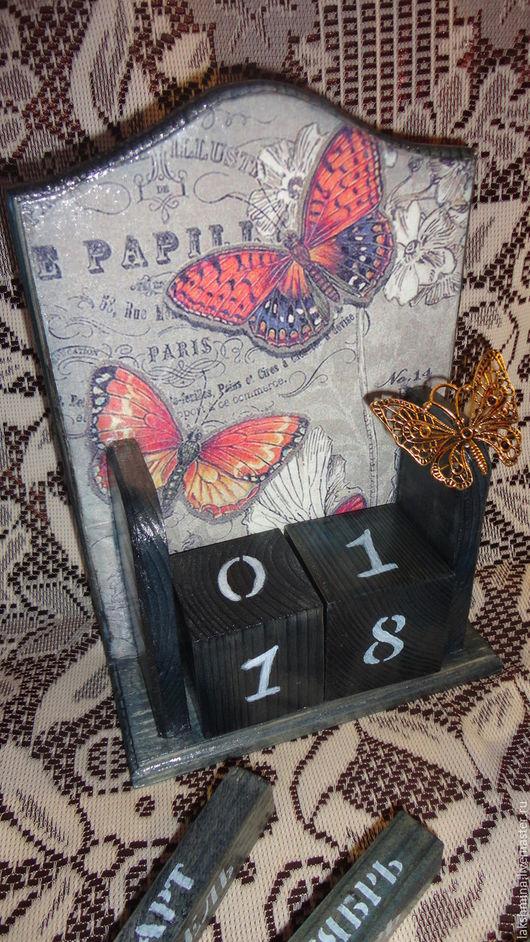 """Календари ручной работы. Ярмарка Мастеров - ручная работа. Купить Календарь """"Бабочки Парижа."""". Handmade. Голубой, нестандартный подарок"""