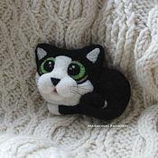 Украшения handmade. Livemaster - original item Felted brooch cat Marquis. Handmade.