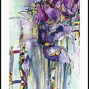 """Картины и панно ручной работы. Ярмарка Мастеров - ручная работа Картина на рисовой бумаге """" Тюльпаны"""". Handmade."""
