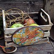 """Для дома и интерьера ручной работы. Ярмарка Мастеров - ручная работа Ящик для кухни """"Облепиха"""" в стиле Кантри. Handmade."""