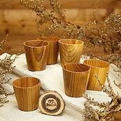 Посуда handmade. Livemaster - original item Set of Wooden wine glasses (6#18. Handmade.
